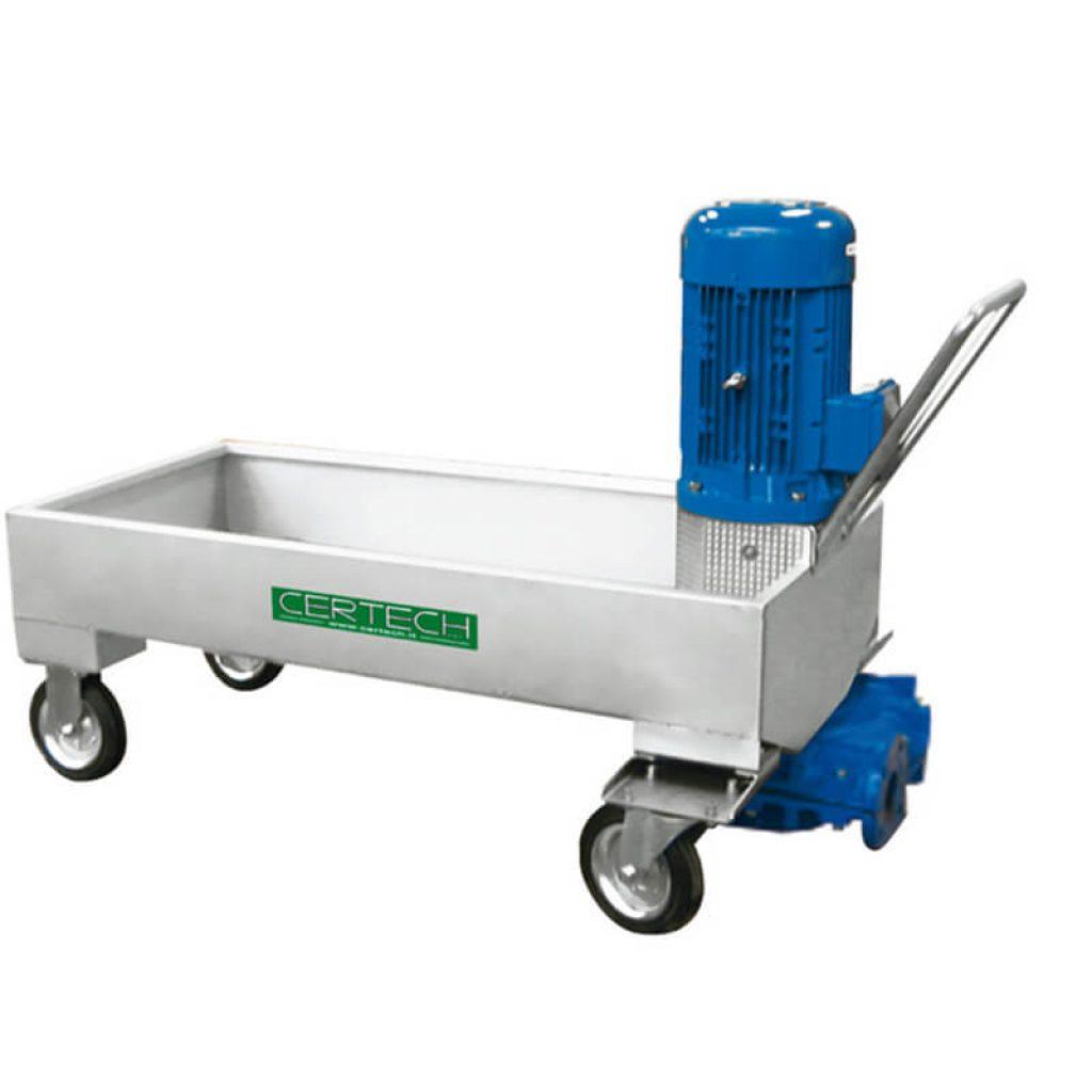 Trolley unit for mill discharge  Certech EGM