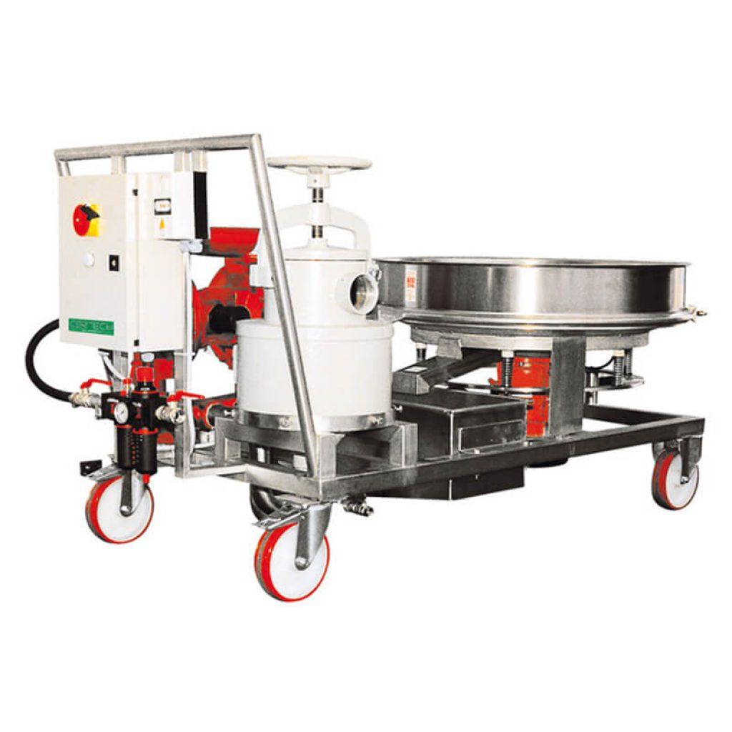 Énsembles sur chariot pour déchargement broyeurs Certech GRE-600-800-900-1200