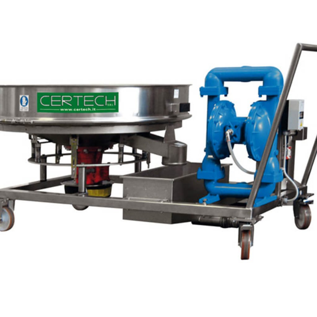 Trolley unit for mill discharge  Certech GRP-600-800-900-1200