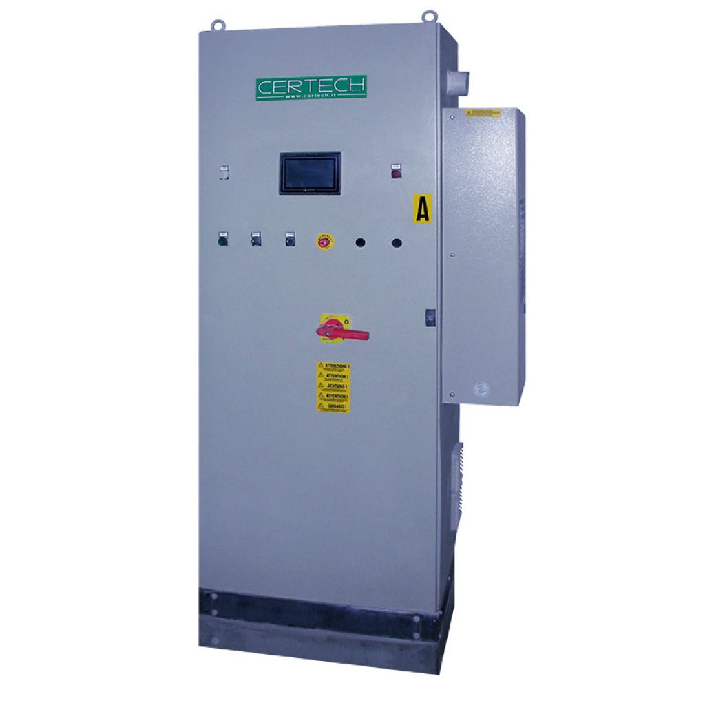 Feeding electric board with inverter and control of PLC.
