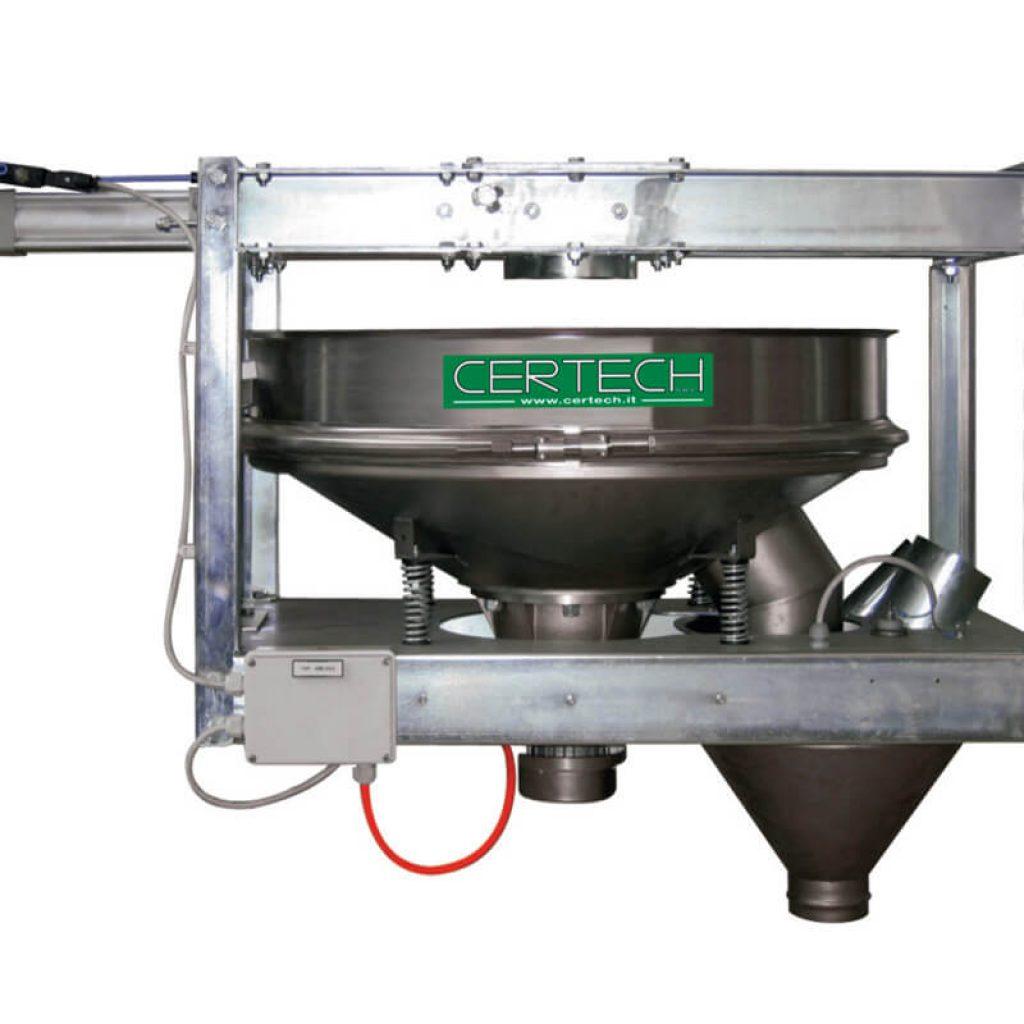 Tamis vibrants pour poudres  Certech VAP-600-800-1/Y