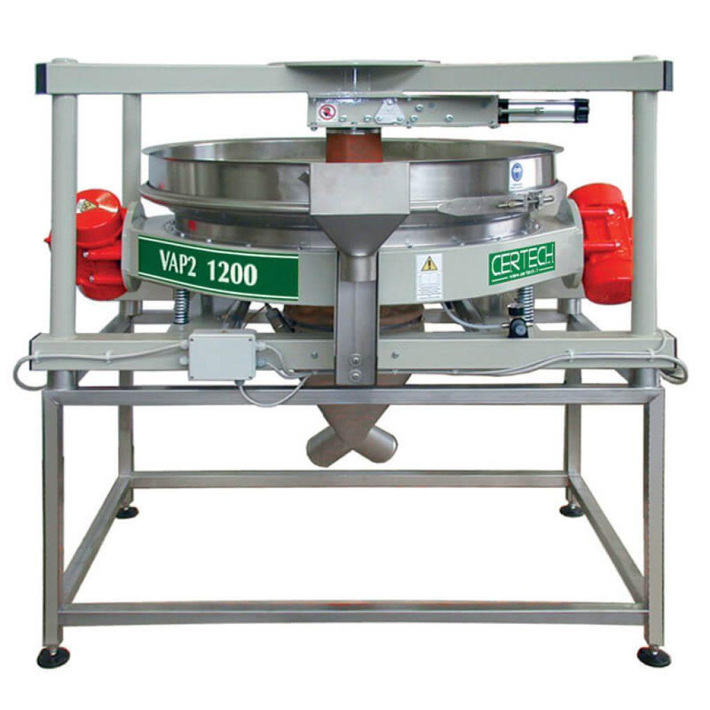 Tamis vibrants pour poudres  Certech  VAP2-800-900-1200-1X