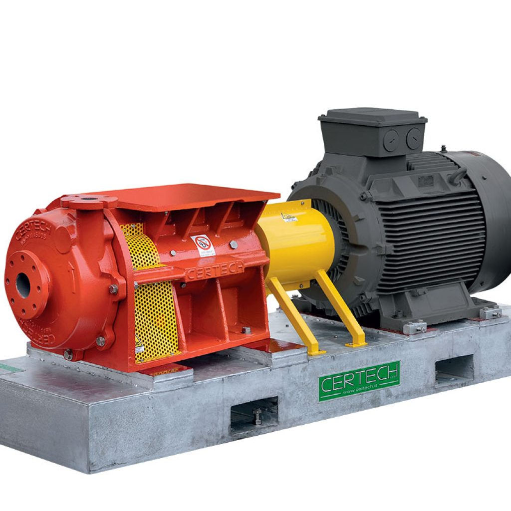HHPP electric centrifugal pumps with axial suction for spray drier feeding