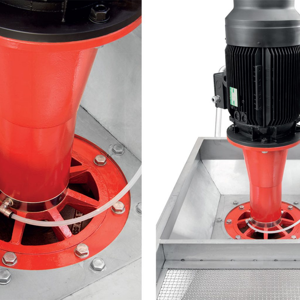 Elettropompe centrifughe verticali ad aspirazione assiale lato superiore tipo USP