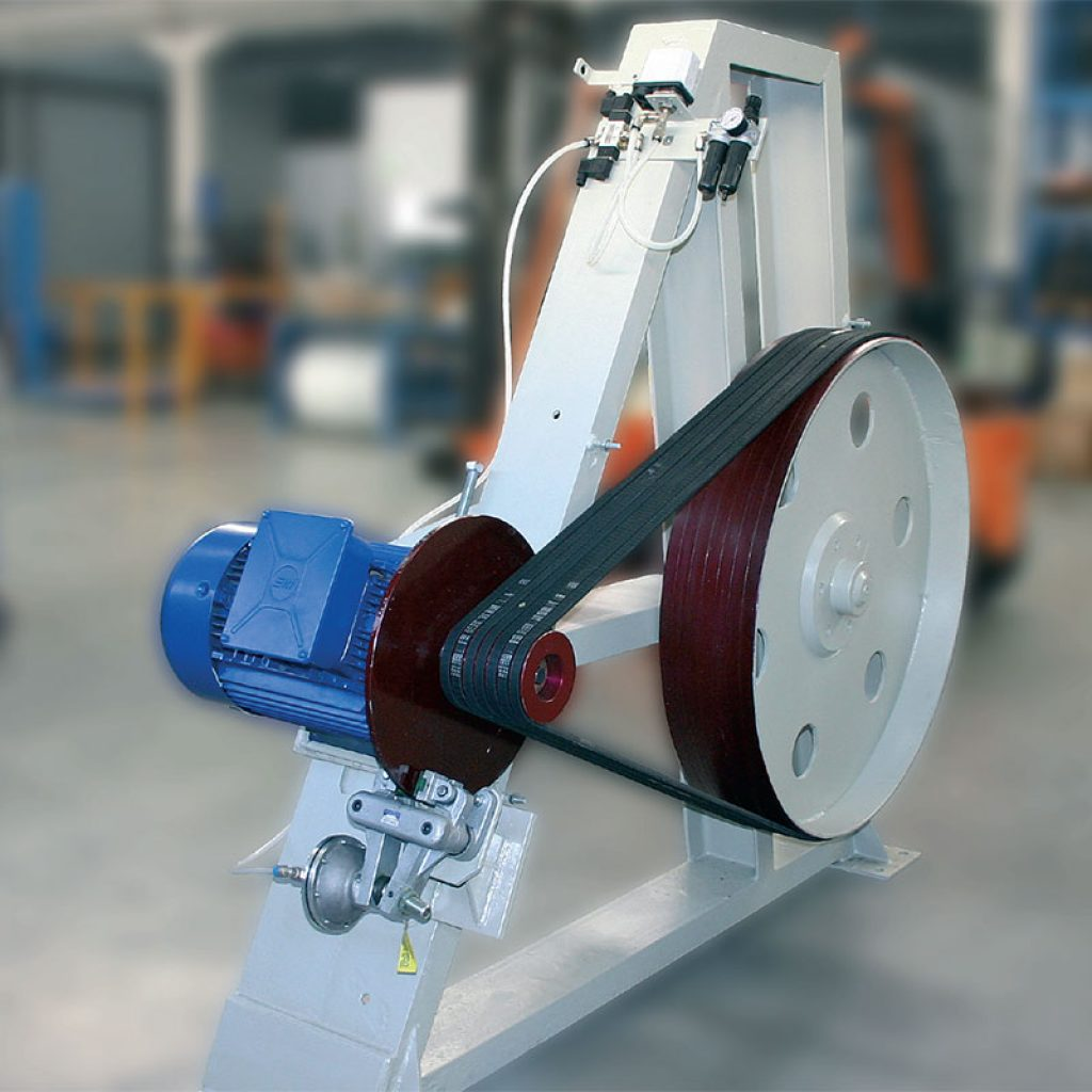 Base assembly and motorization unit for 3,000 litre mills.