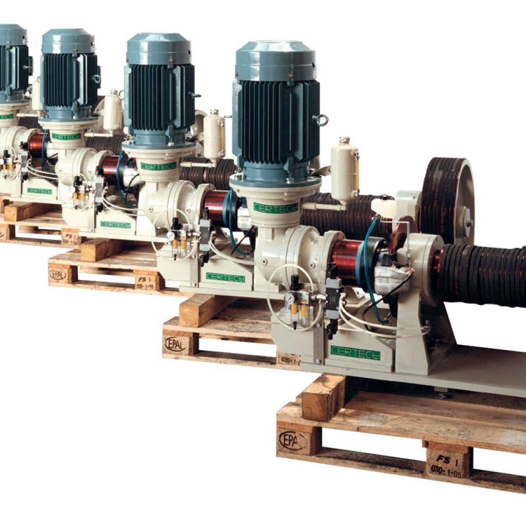 Batteria dSet of 6 motorization units with starting/positioning motor for mills of 34.000 Lt and 30.000 Lt.