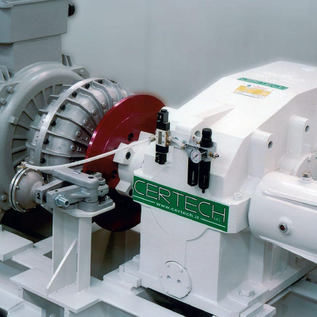 MRC 40 motorization unit detail of the reduction gear, brake unit and main motor