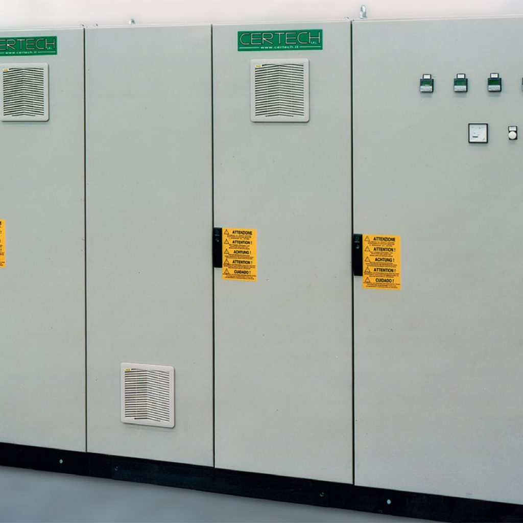 Board for control of 4 motorizations units for 40,000 litre mills