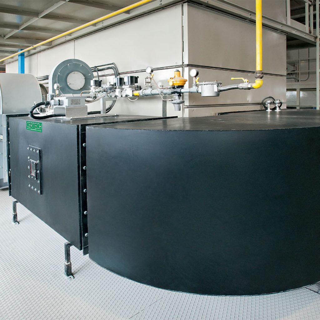 Ventilateur principal et brûleur en veine d'air de 600.000 kcal/h