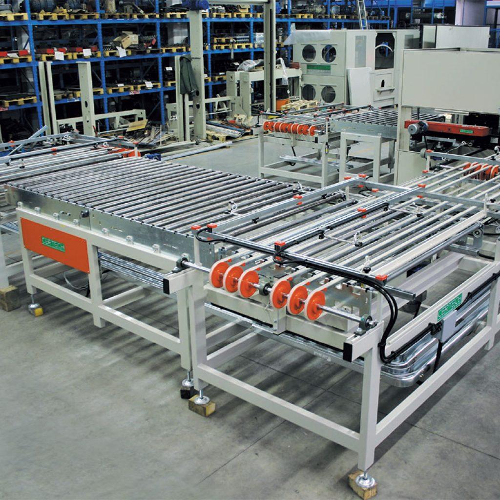 de transport, chargement, déchargement séchoir pour formats 900 mm x 1200 mm