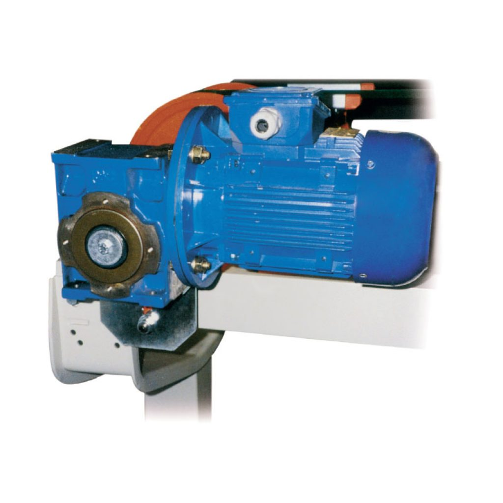 Direct draft unit fitted with gearmotor