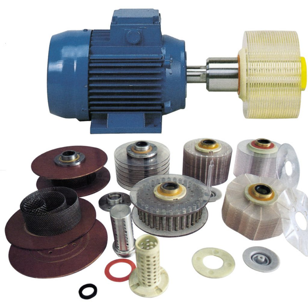 Motors for direct connection to the disc pack with front glaze feeding.