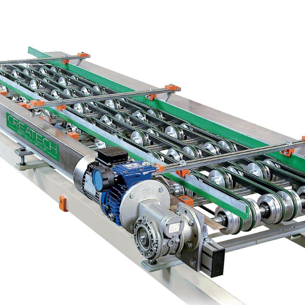 Tile flow regulator with round belts
