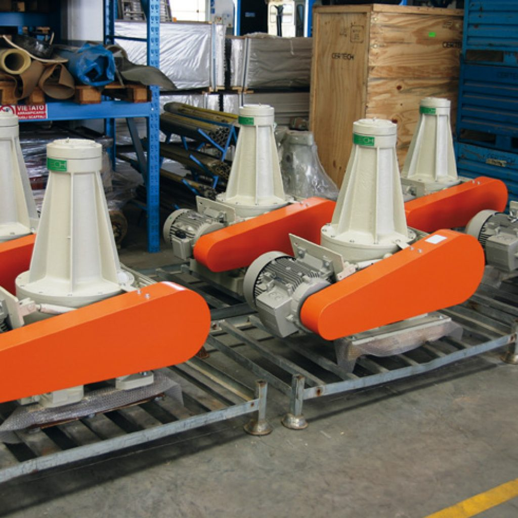 Used and regenerated stirrers for slip