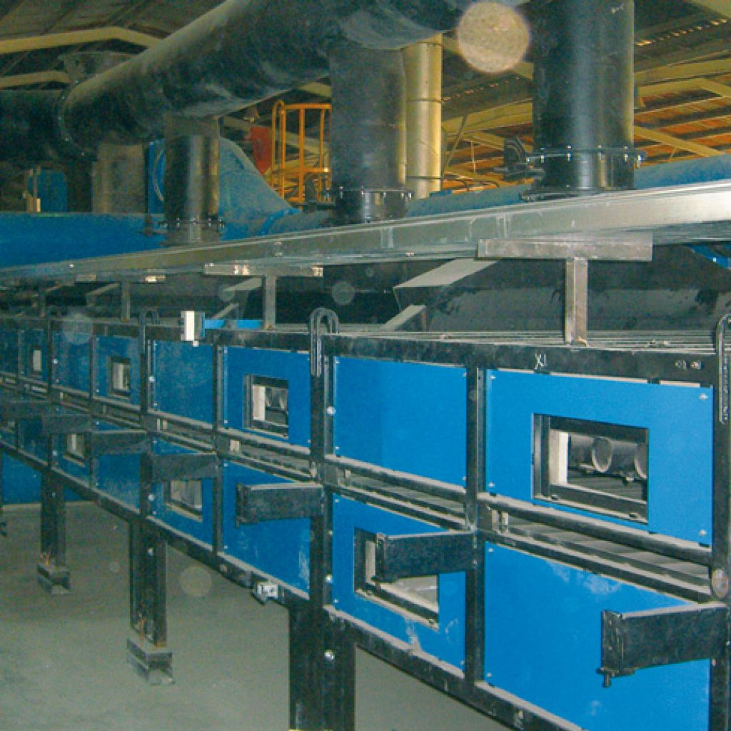 Second-hand regenerated single-channel kiln during assembly