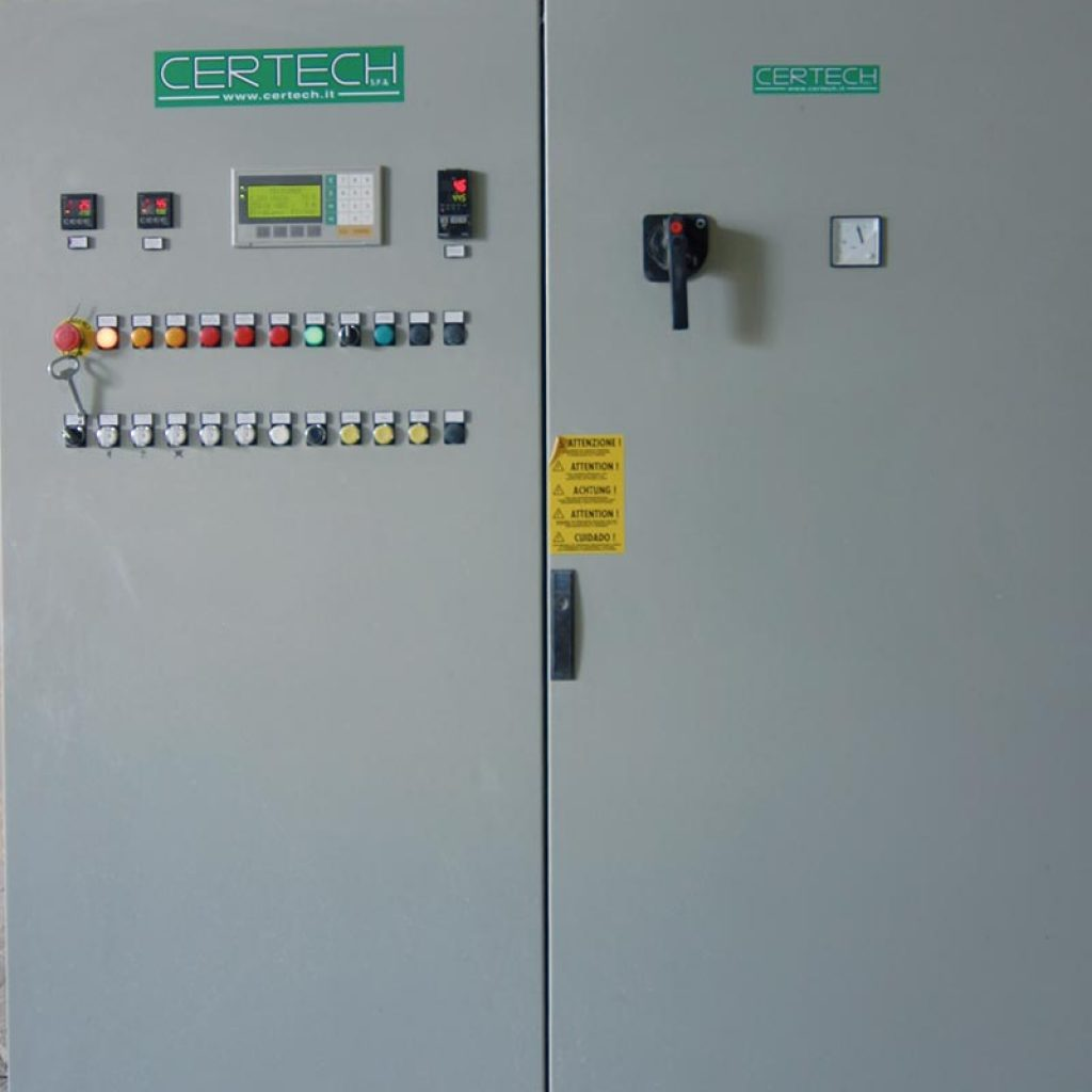 Switchboard with PLC installed along with the up grade