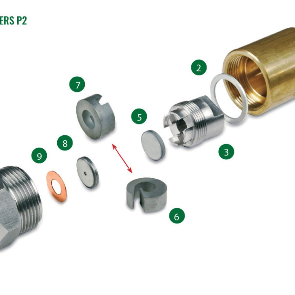 Nozzles for spray driers P2