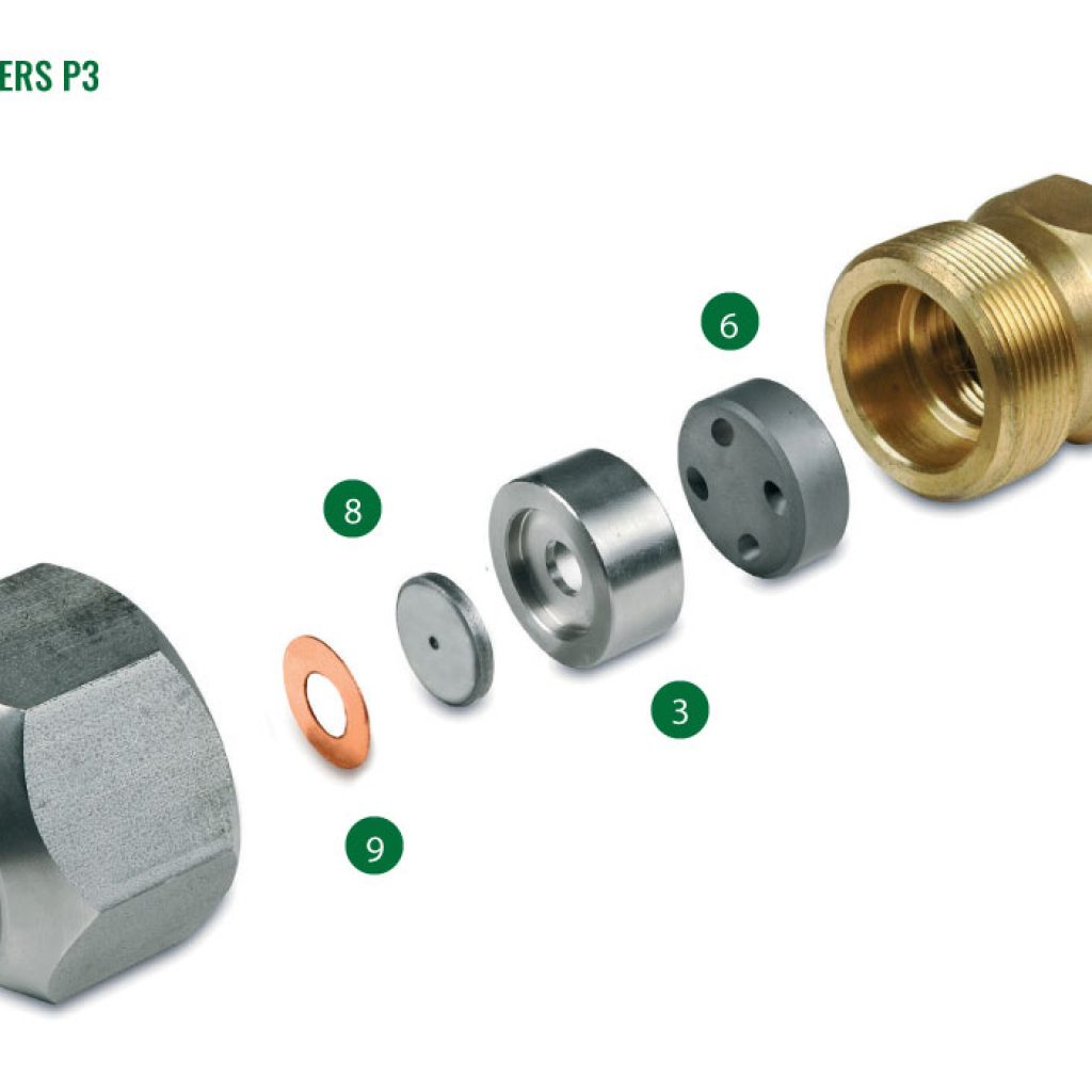 Nozzles for spray driers P3