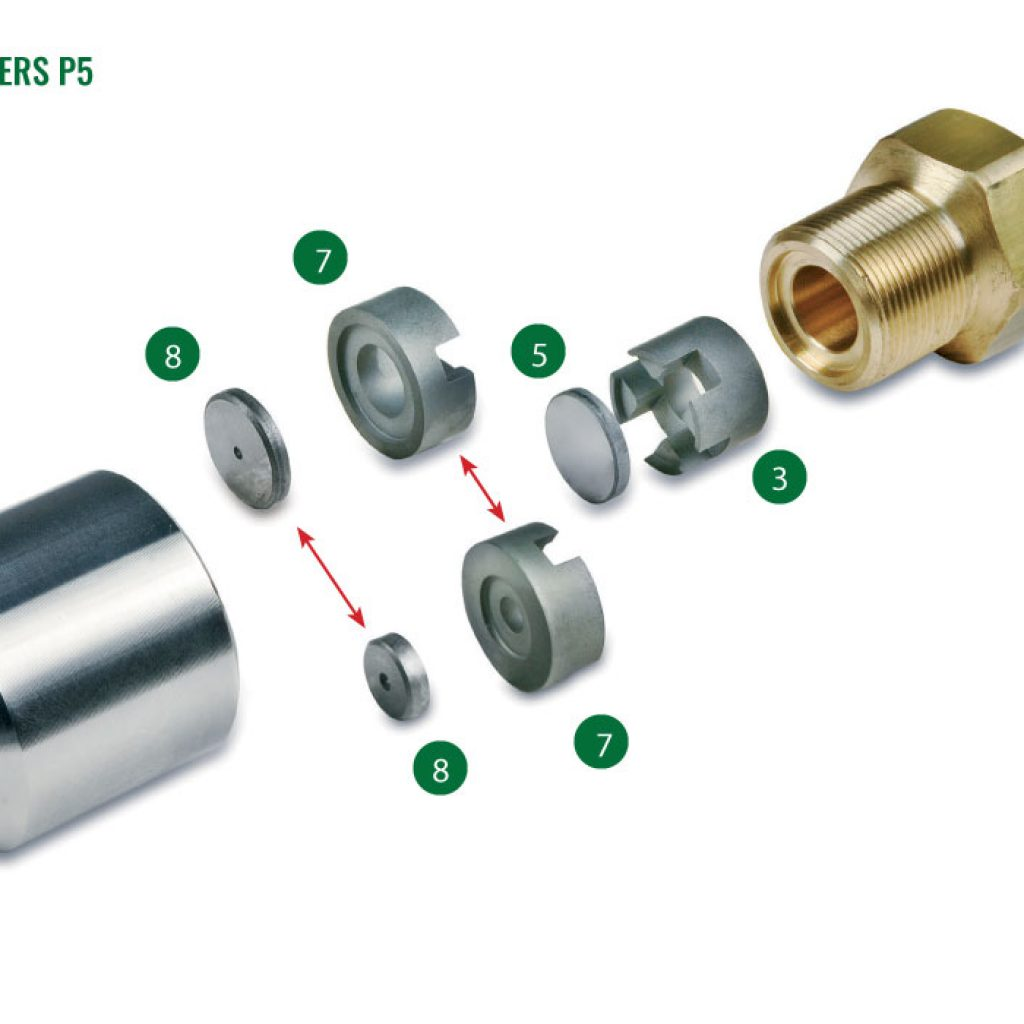 Nozzles for spray driers P5