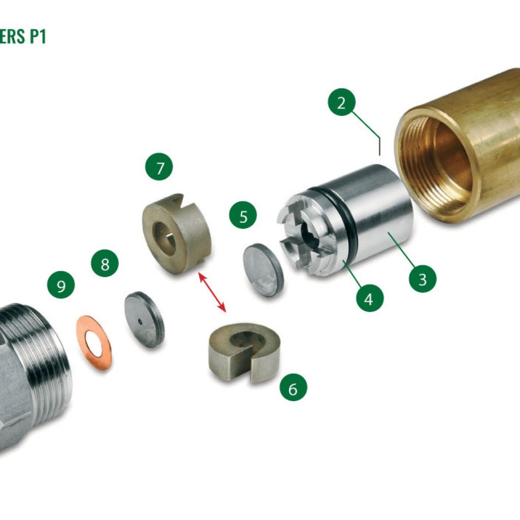 Nozzles for spray driers P1